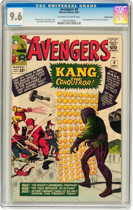 91008: The Avengers #8 Pacific Coast pedigree (Marvel,