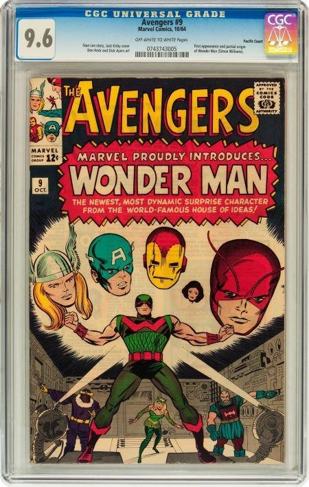 91009: The Avengers #9 Pacific Coast pedigree (Marvel,