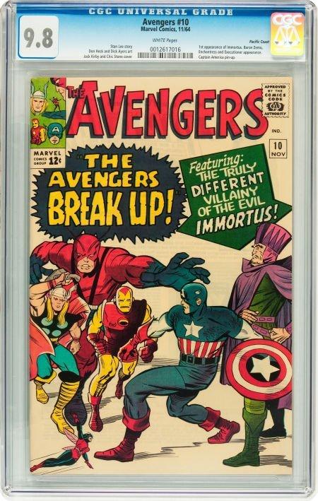 91010: The Avengers #10 Pacific Coast pedigree (Marvel,