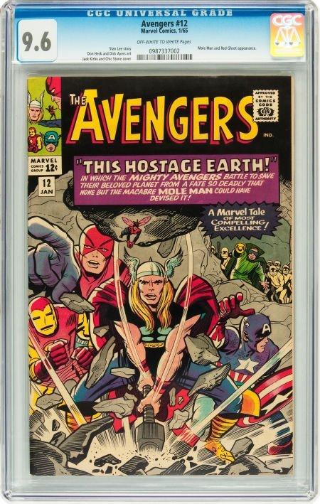 91012: The Avengers #12 (Marvel, 1965) CGC NM+ 9.6 Off-