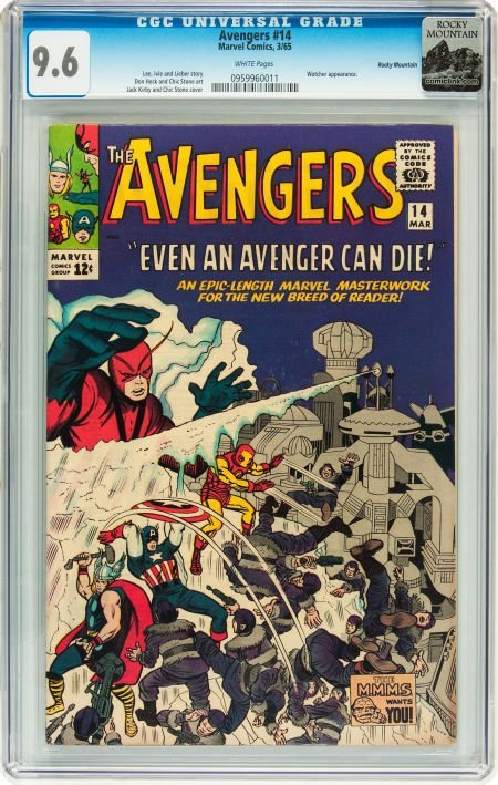 91014: The Avengers #14 Rocky Mountain pedigree (Marvel