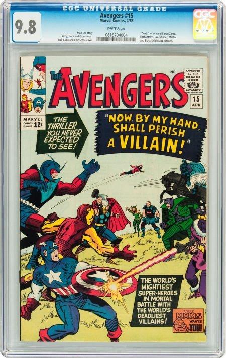 91015: The Avengers #15 (Marvel, 1965) CGC NM/MT 9.8 Wh