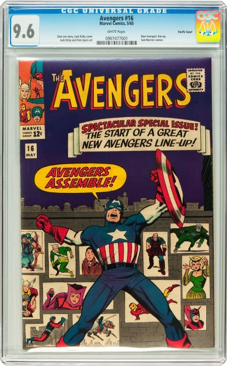 91016: The Avengers #16 Pacific Coast pedigree (Marvel,
