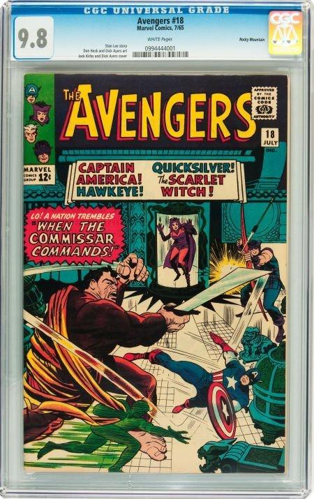91018: The Avengers #18 Rocky Mountain pedigree (Marvel