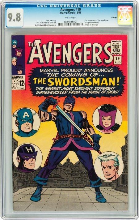 91019: The Avengers #19 Curator pedigree (Marvel, 1965)
