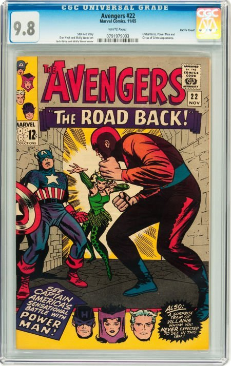 91022: The Avengers #22 Pacific Coast pedigree (Marvel,