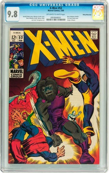 91470: X-Men #53 Rocky Mountain pedigree (Marvel, 1969)
