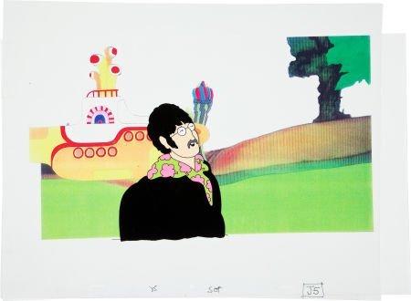 "92399: Beatles Yellow Submarine ""John"" Production Cel A"