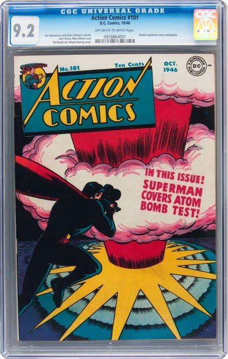 93001: Action Comics #101 (DC, 1946) CGC NM- 9.2 Off-wh