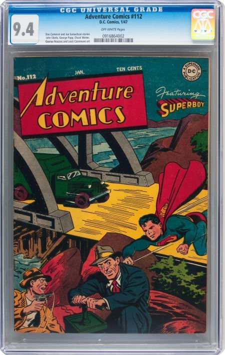 93002: Adventure Comics #112 (DC, 1947) CGC NM 9.4 Off-