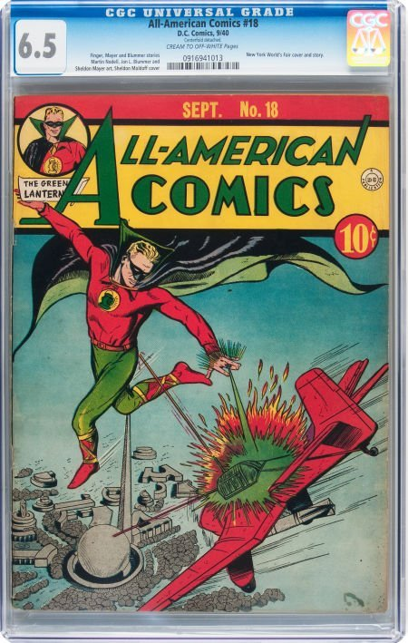 93003: All-American Comics #18 (DC, 1940) CGC FN+ 6.5 C