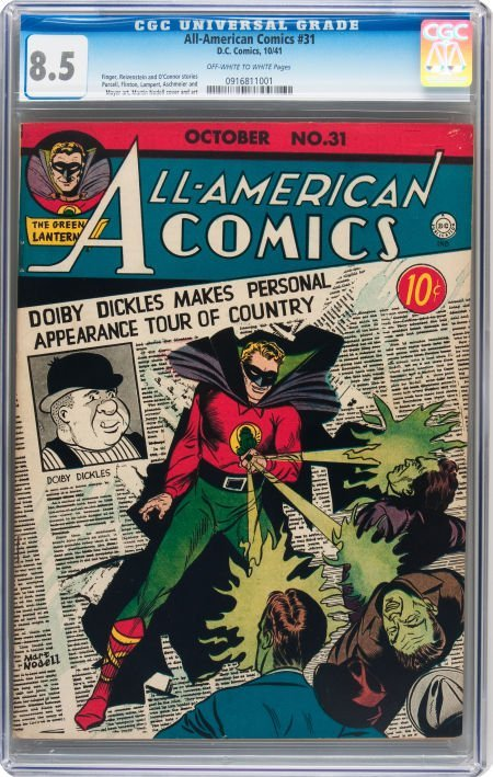 93004: All-American Comics #31 (DC, 1941) CGC VF+ 8.5 O