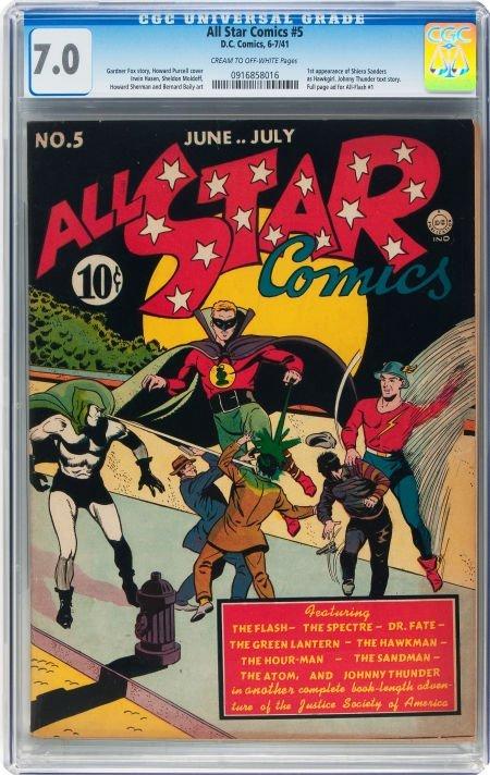 93009: All Star Comics #5 (DC, 1941) CGC FN/VF 7.0 Crea