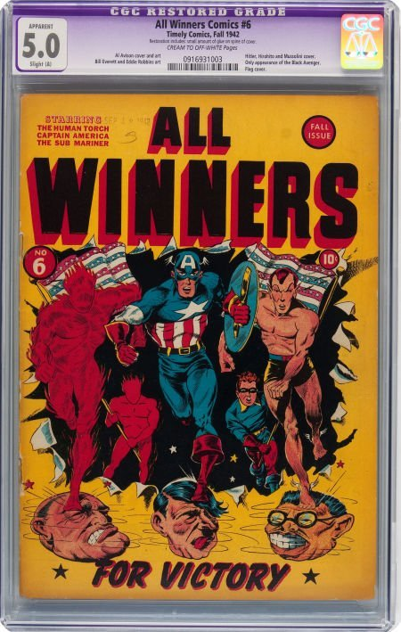 93012: All Winners Comics #6 (Timely, 1942) CGC Apparen