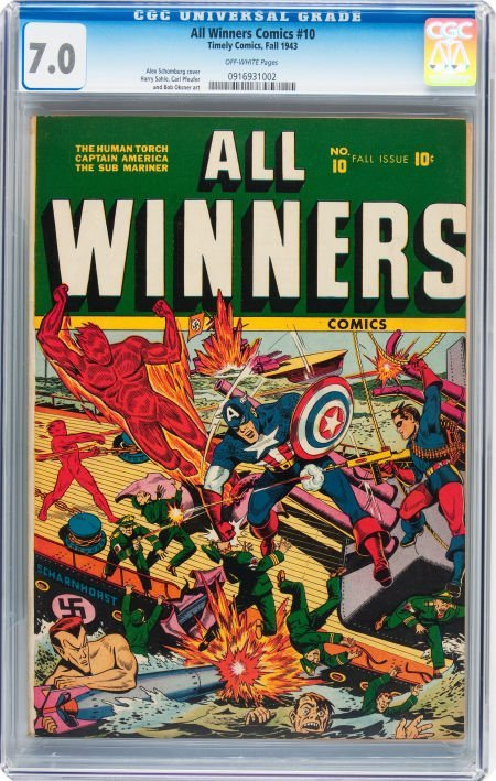 93013: All Winners Comics #10 (Timely, 1943) CGC FN/VF