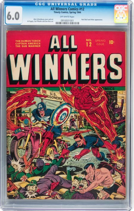 93014: All Winners Comics #12 (Timely, 1944) CGC FN 6.0