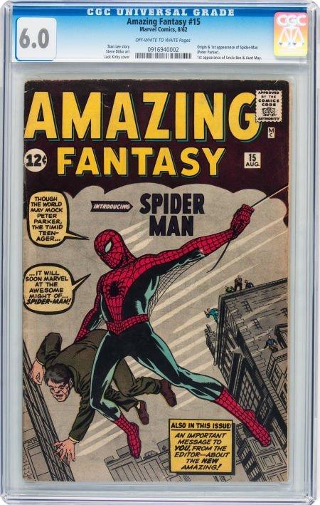 93015: Amazing Fantasy #15 (Marvel, 1962) CGC FN 6.0 Of