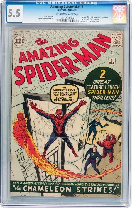 93017: The Amazing Spider-Man #1 (Marvel, 1963) CGC FN-