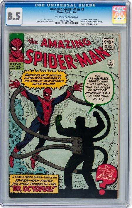 93018: The Amazing Spider-Man #3 (Marvel, 1963) CGC VF+