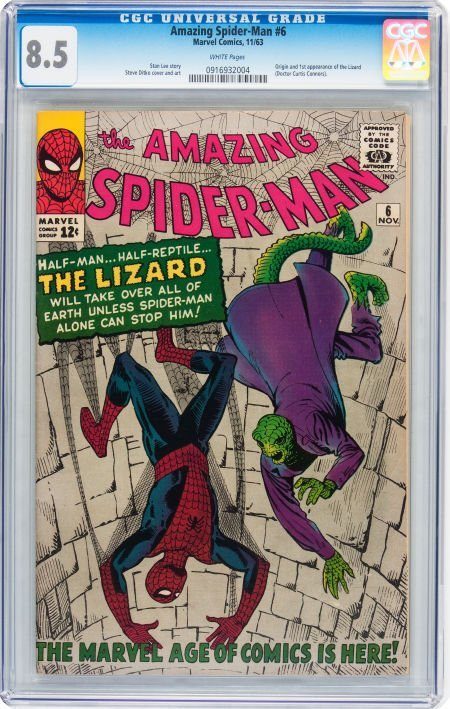 93019: The Amazing Spider-Man #6 (Marvel, 1963) CGC VF+