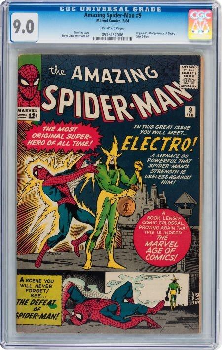 93020: The Amazing Spider-Man #9 (Marvel, 1964) CGC VF/