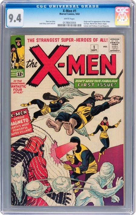 93212: X-Men #1 (Marvel, 1963) CGC NM 9.4 White pages.