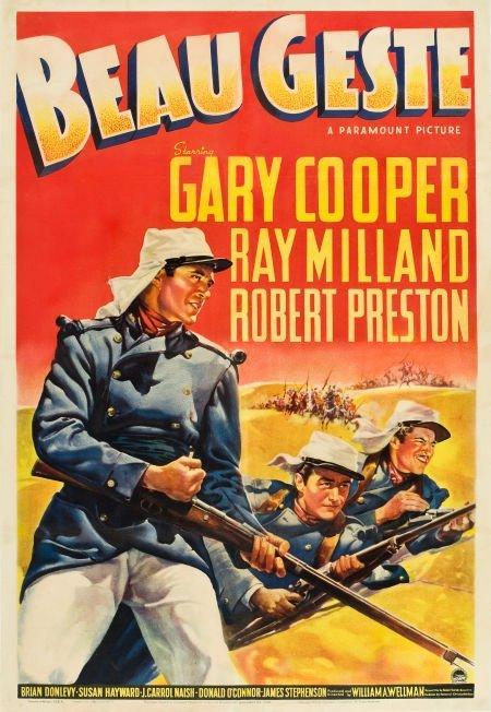 "83003: Beau Geste (Paramount, 1939). One Sheet (27"" X 4"
