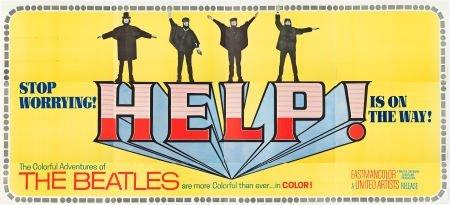 "83197: Help! (United Artists, 1965). 24 Sheet (104"" X 2"