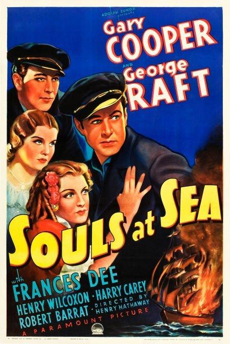 """83007: Souls at Sea (Paramount, 1937). One Sheet (27"""" X"""