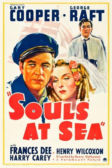 """83008: Souls at Sea (Paramount, 1937). One Sheet (27"""" X"""