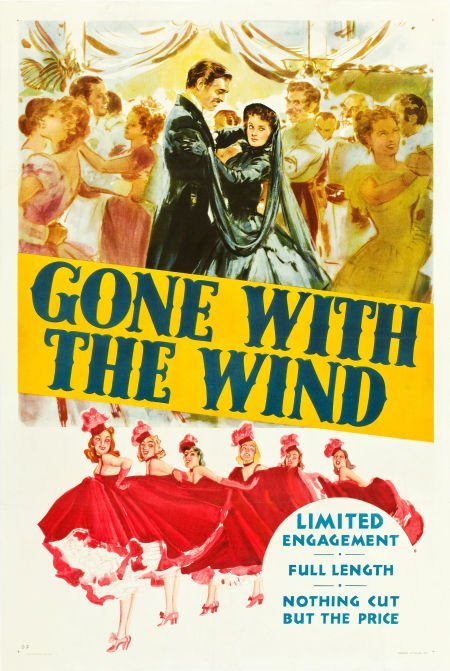"""83010: Gone with the Wind (MGM, 1939). One Sheet (27"""" X"""