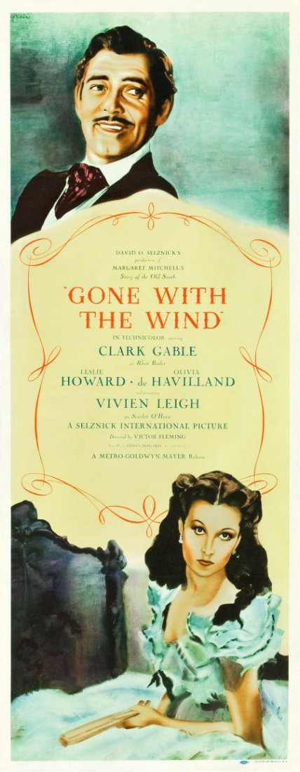 """83011: Gone with the Wind (MGM, 1939). Insert (14"""" X 36"""