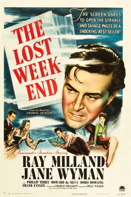 83015: The Lost Weekend (Paramount, 1945). One Sheet (2