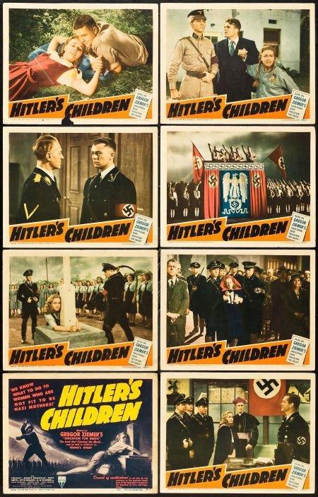 83022: Hitler's Children (RKO, 1943). Lobby Card Set of