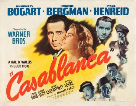 83128: Casablanca (Warner Brothers, 1942). Half Sheet (