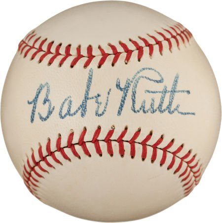 80010: The Finest Babe Ruth Single Signed Baseball Know