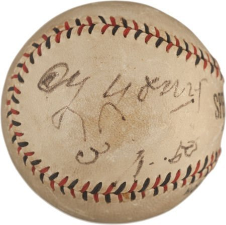 80013: 1950 Cy Young Single Signed Baseball.