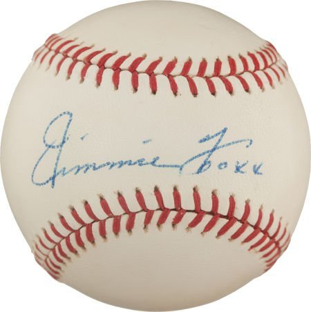 80015: The Finest Jimmie Foxx Single Signed Baseball on