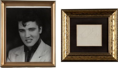 46009: Elvis Presley Autograph and Photo (c. 1956).