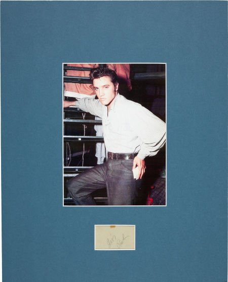 46012: Elvis Presley: Two Back-to-Back Autographs in a