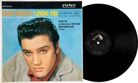 46014: Elvis Presley Signed Loving You Stereo LP (RCA 1