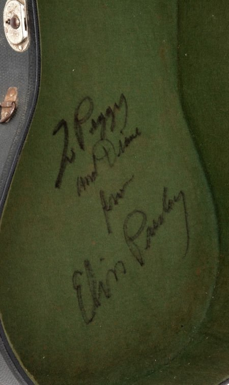 46016: Elvis Presley Autographed Guitar Case Purchased