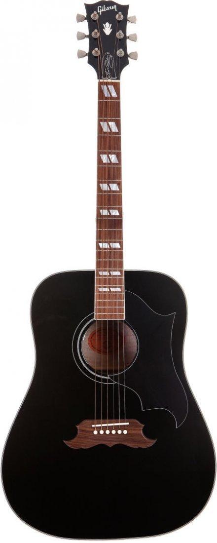 46246: Elvis Presley Replica Gibson Dove Acoustic Guita