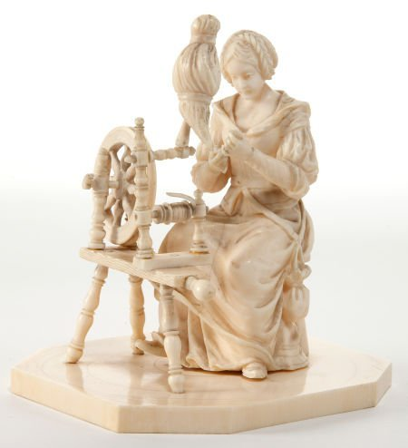 86007: A CONTINENTAL CARVED IVORY FIGURE  19th century