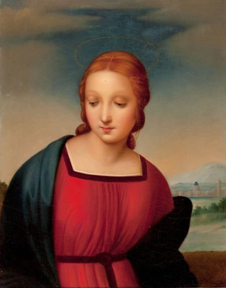 86016: After RAPHAEL (Italian, 1483-1520) Head of the M