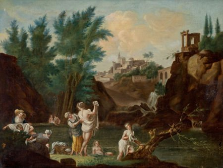 86025: CONTINENTAL SCHOOL (19th Century) Landscape with