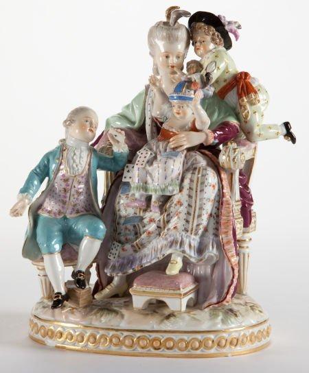 86056: A MEISSEN PORCELAIN FIGURAL GROUP  Meissen, Germ