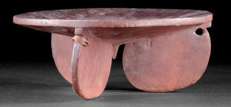 86520: A SOUTH AFRICAN WOOD PORTABLE STOOL  Early 20th