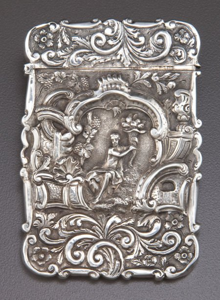 68006: A NATHANIEL MILLS GEORGE IV SILVER CARD CASE  Na