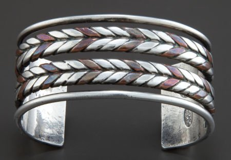 68016: A WILLIAM SPRATLING SILVER AND COPPER CUFF BRACE